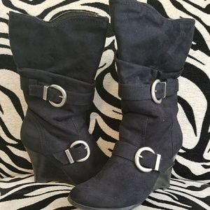 Cute suede boots